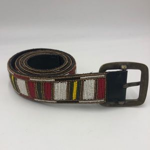 Bernice T1 Buffalo Leather Beaded Belt